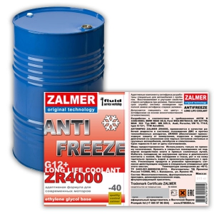 ZALMER Antifreeze LLC ZR 4000 G12+ (красный) 215 кг