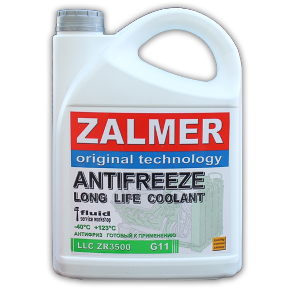 ZALMER Antifreeze LLC ZR3500 G11 (зеленый) 10 кг