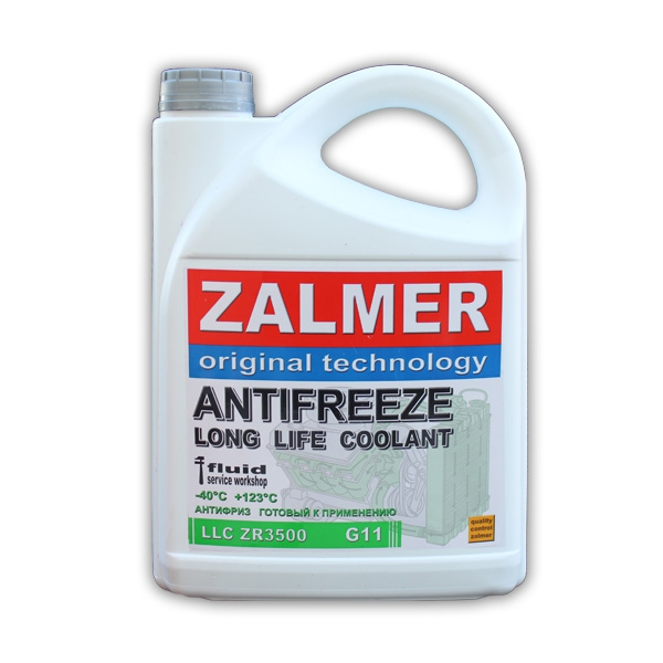 ZALMER Antifreeze LLC ZR3500 G11 (зеленый)  3 кг