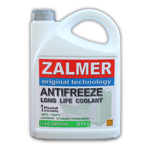 ZALMER Antifreeze LLC ZR3500 G11 (зеленый)  5 кг
