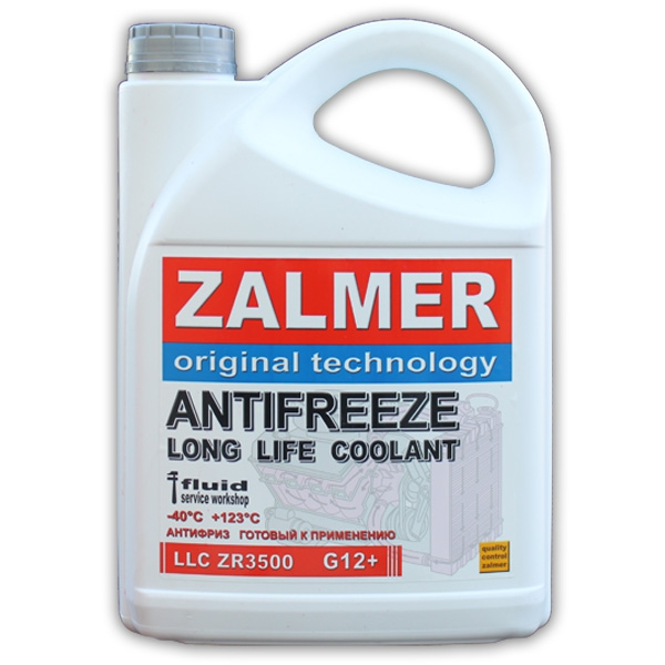 ZALMER Antifreeze LLC ZR3500 G12+ (красный) 10 кг