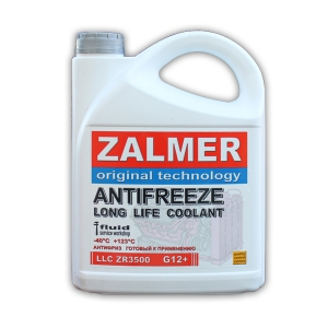 ZALMER Antifreeze LLC ZR3500 G12+ (красный)  3 кг. артикул ZR35R003