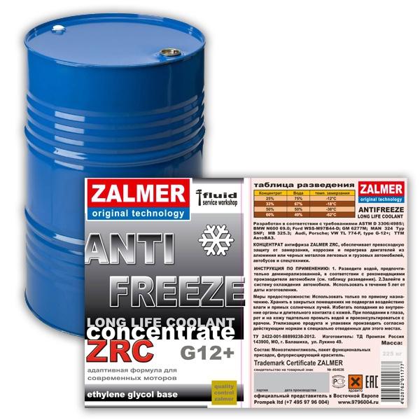 ZALMER Antifreeze LLC CONCENTRATE G12+ (красный) 215 кг